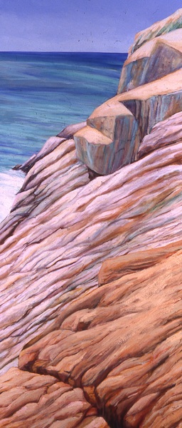 "Copper Tracings, oil on canvas, 72"" x 36"", 2002,"